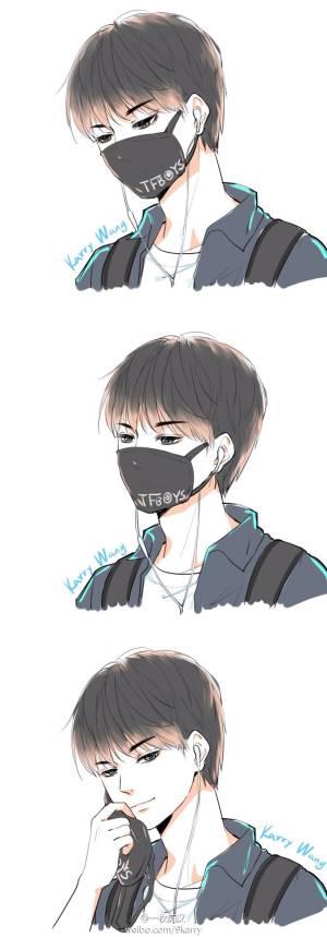 谁有王俊凯动漫图片