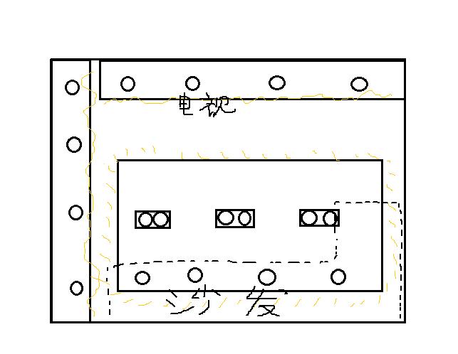 射灯平面图怎么表示