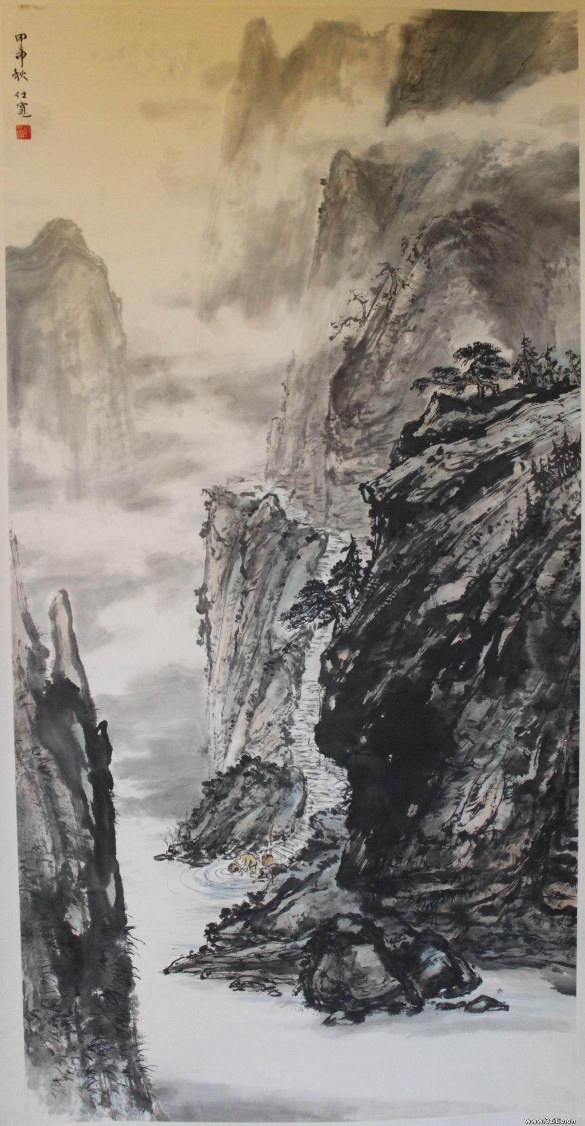 《深山藏古寺》怎样用画表现出来?