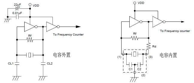 两脚陶瓷晶振z8.0m改用三脚z8.0m要配多大的电容