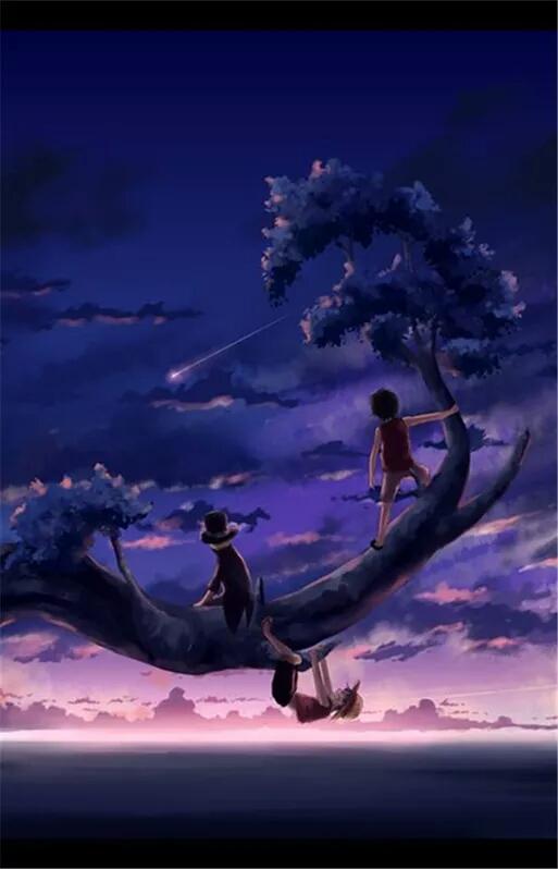 求动漫男生戴帽看海背影的图片,最好的很孤独的那种,背影最好,差不多