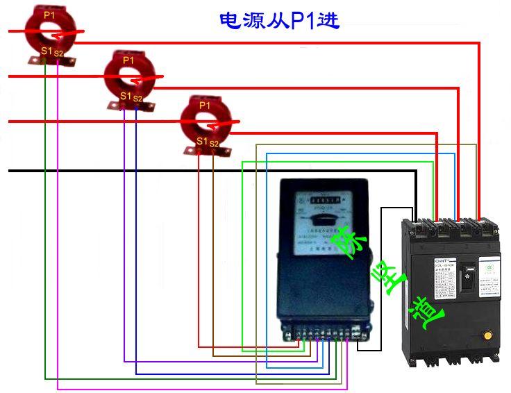 三相四线有功电能表怎么接?带电流互感器的,有接线图最好