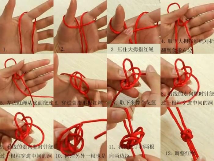 最常见的就是吉祥结的变体——各种盘长结,如八道盘长,十二道盘长