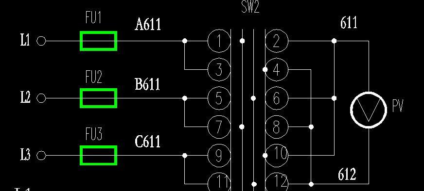 低压配电柜的电源电压表和转换开关怎么选 怎么接线 最好有图 请高手