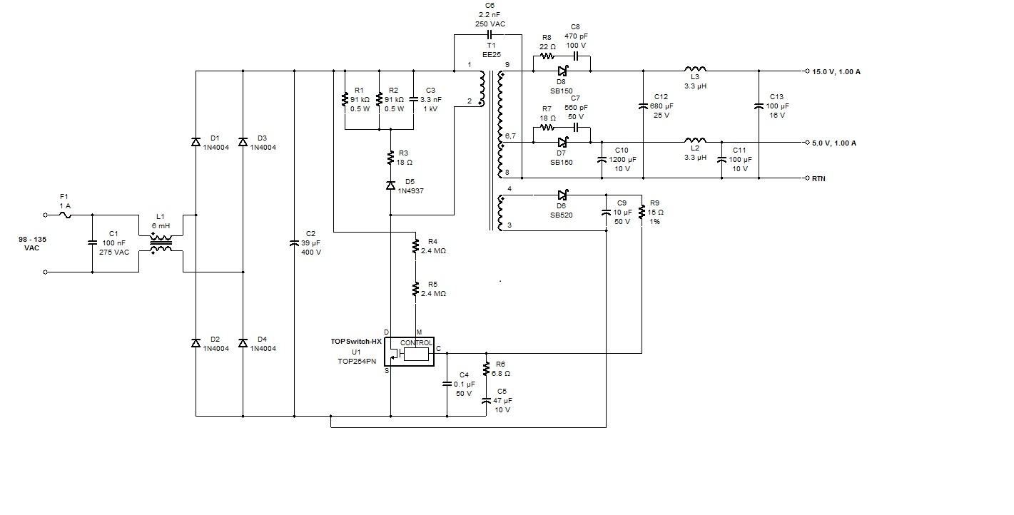 反激式开关电源的设计 要求:输入直流110v,输出:直流