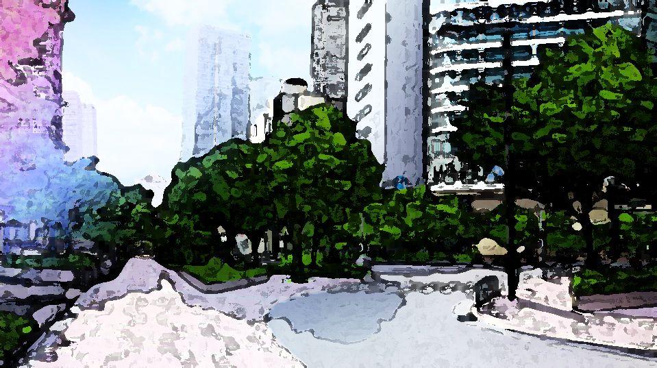 风景照片转成手绘效果,详细步骤下载附件教材