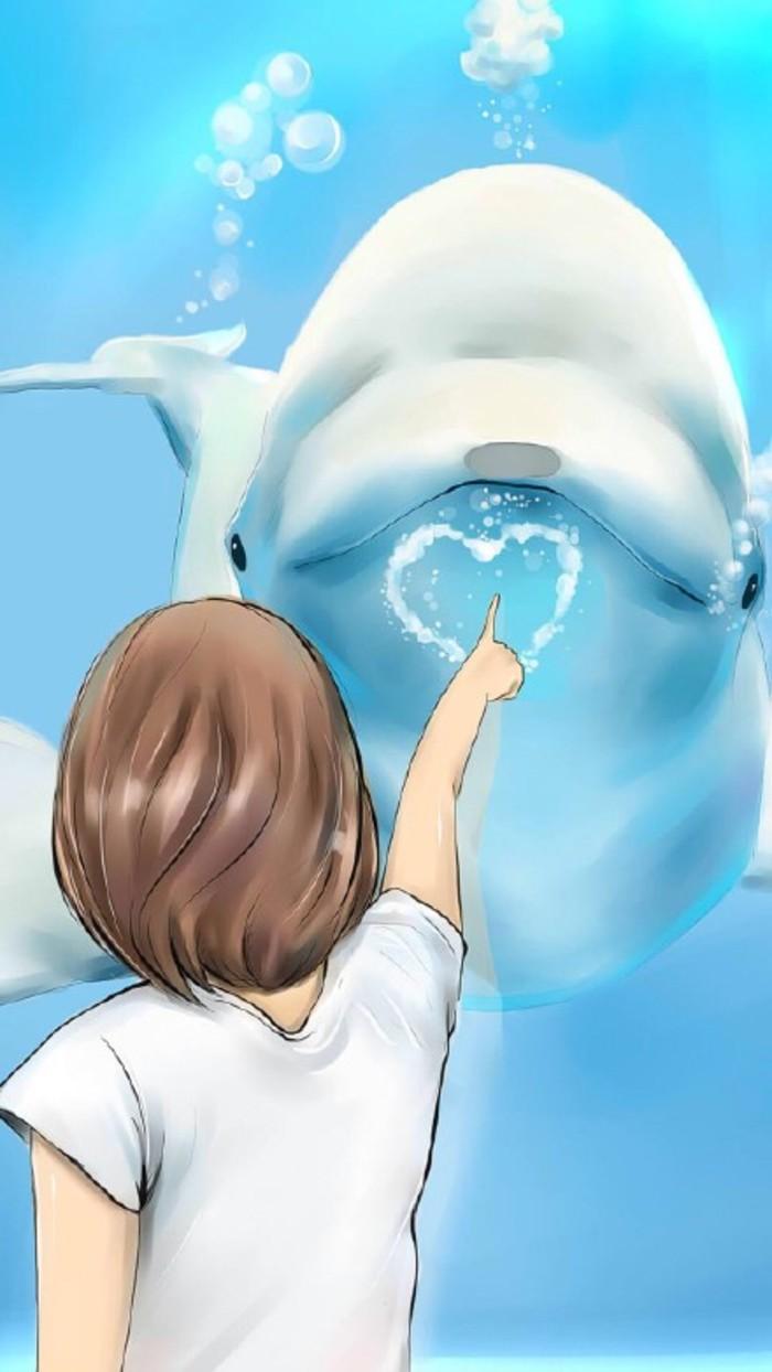 求一些可以做桌面壁纸的唯美的蓝鲸图片