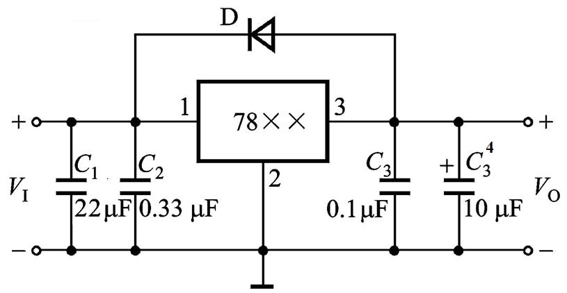 l7805cv稳压电路图