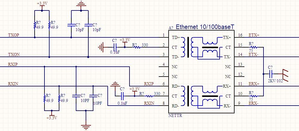 请教关于网络变压器 15 各位大侠,求助帮我分析上面原理图,我万分