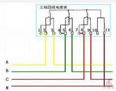 展开全部 智能远程三相四线电表接线原理图如下: 向左转| 向右转图片
