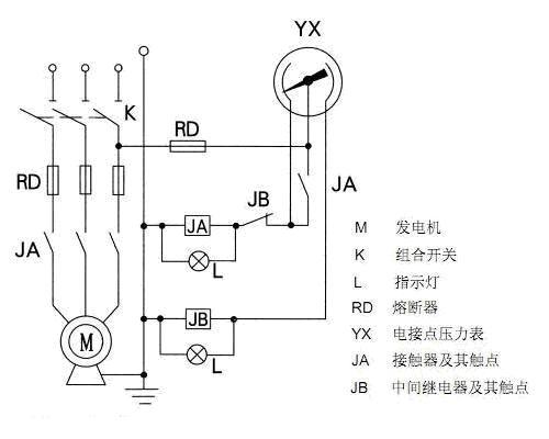 电接点压力表控制水泵的接线图(要求能自动跟手动上水