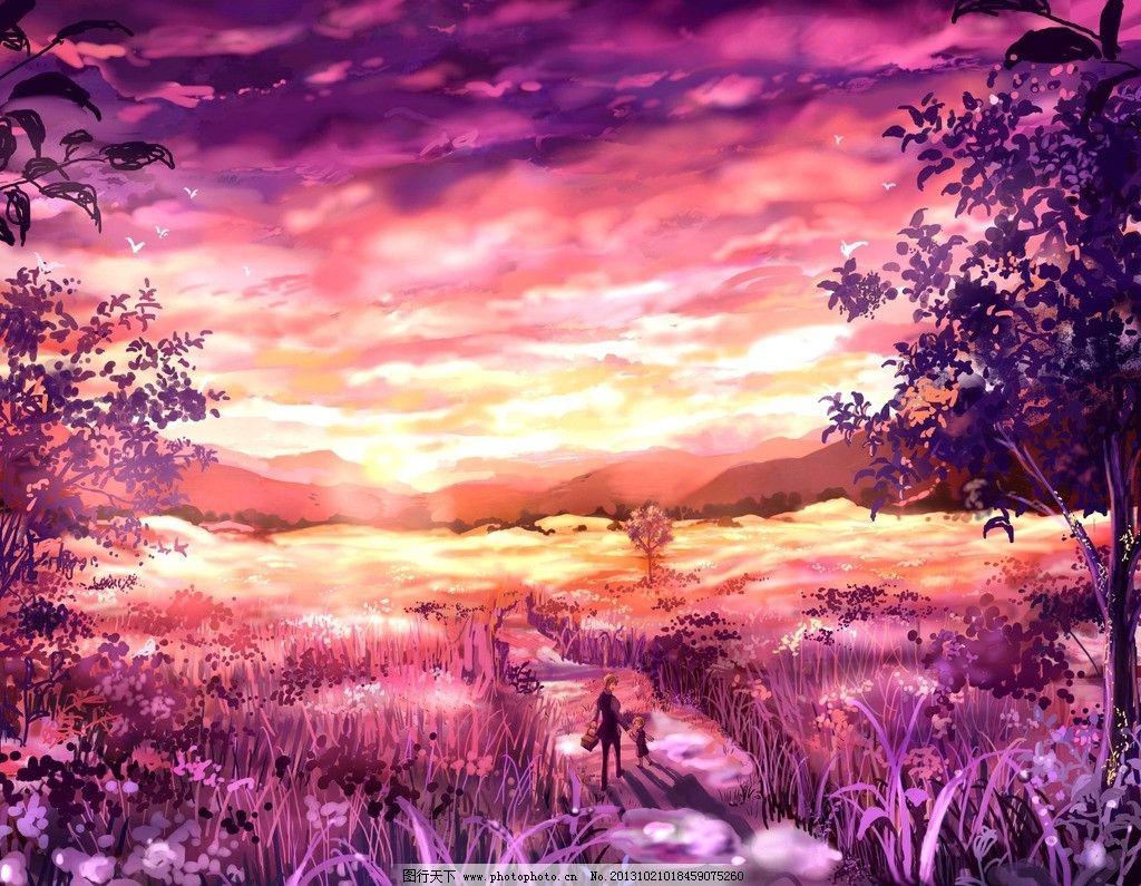 求几张唯美的动漫风景图
