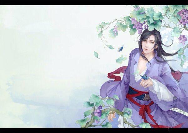 跪求紫衣美男古风立绘