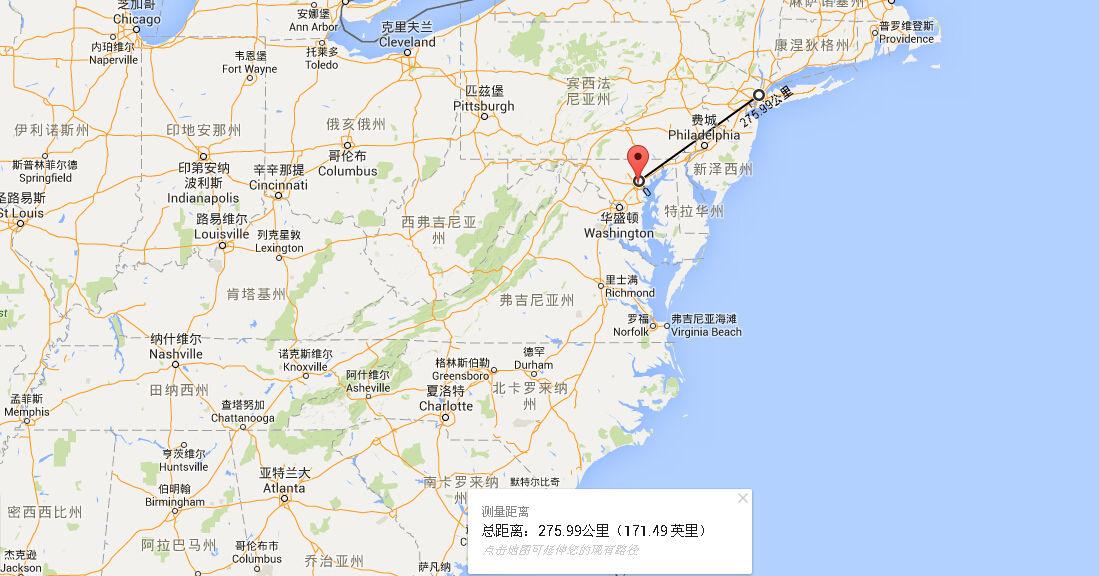 巴尔的摩位于切萨皮克湾顶端的西侧,离美国首都华盛顿仅有60多公里