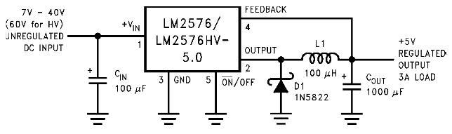 跪求一个降压电路,把50v的直流电将为5v,不用电阻分压