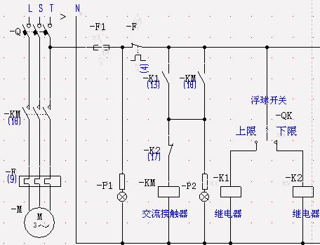 我想要个电接点压力表控制补水泵电路原理图