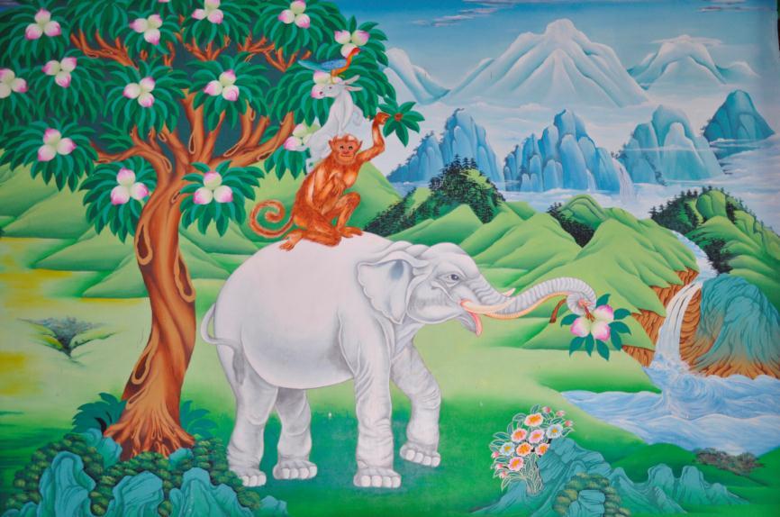 佛教象和什么动物有联系