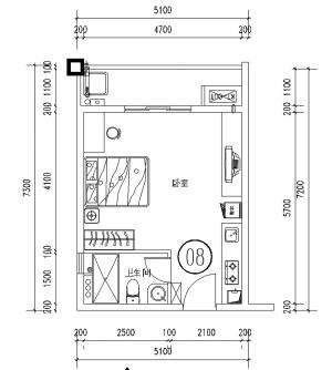 户型 户型图 平面图 300_334