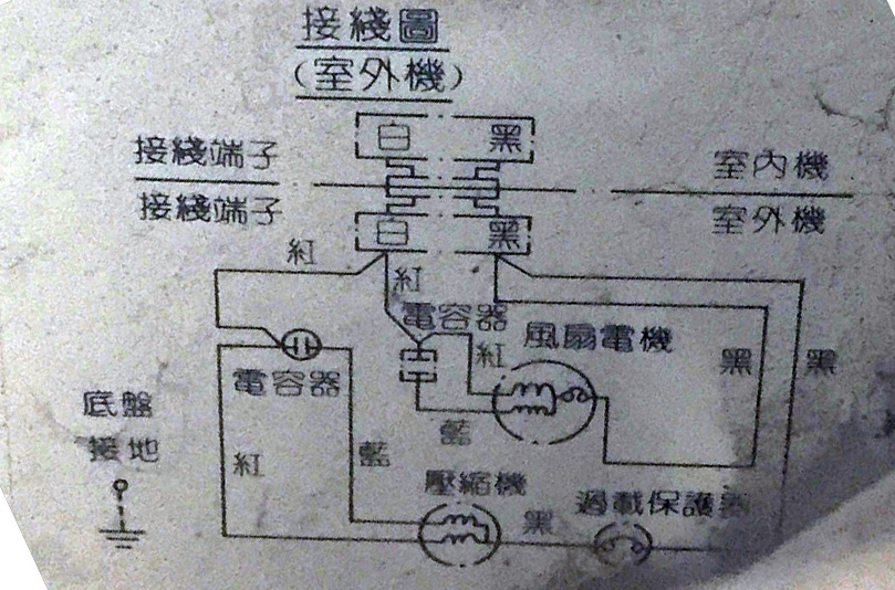 空調電容接線問題