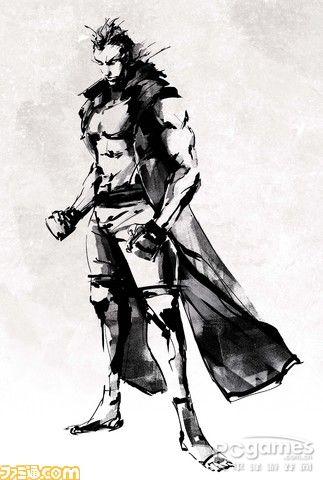 武侠风手绘人物