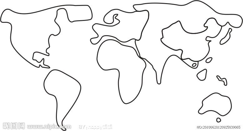 地理老师要求画一幅世界地图,不知道怎么画?