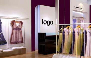 13平方长方形店面四面没有围墙的服装设计效果图图片