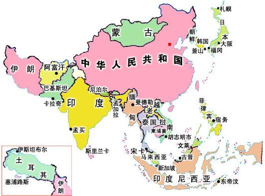 亚洲国家_亚洲(48个国家)
