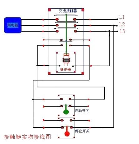 电机接线图两电机三个交流接触器