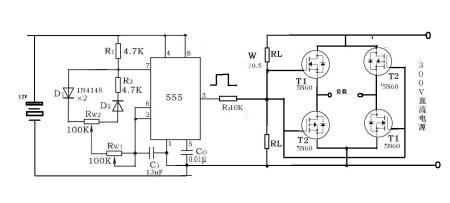 求ne555做一个产生交流方波的电路