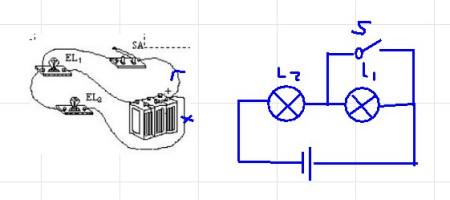 (物理)根据实物连接图画出电路图图片