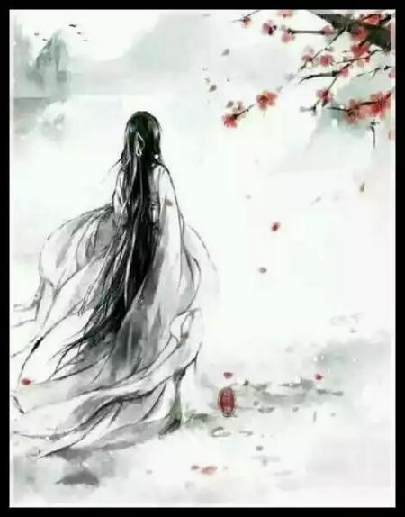 跪求古风眼覆白纱女子手绘图!