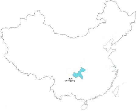 重庆市在中国地图上的具体位置如图