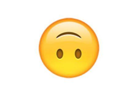 苹果手机emoji翻白眼和微笑倒过来这两个表情是什么?图片