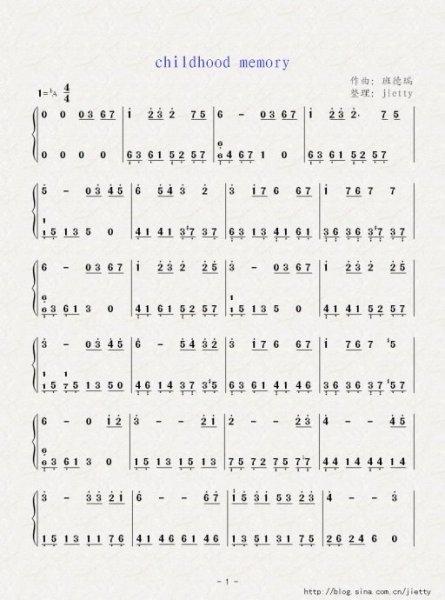 求班得瑞的童年,钢琴谱,要简谱,网上都是五线谱,看不太懂,求大神帮