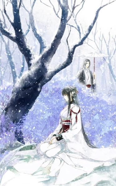 白衣女子不染一尘的古风图片不要真人