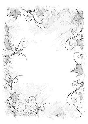 有没有好看的边框,花边之类的,要铅笔画或素描,最好唯美一点,拜托了