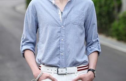衬衫腰带的系法图解