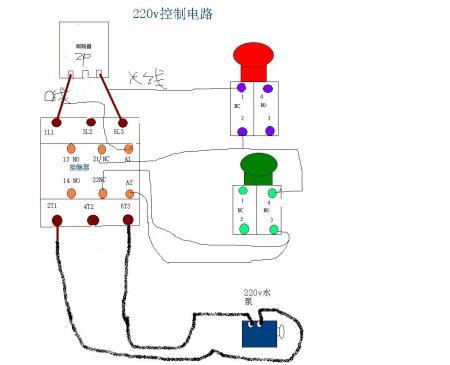 这个220v电路怎么连接控制线路?