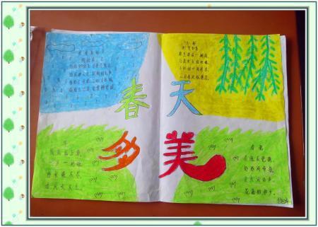 以创意自然 拥抱绿色为主题的手抄报