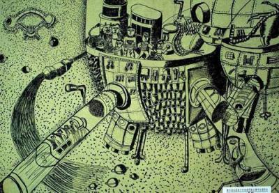 适合初中的科幻画作品图片