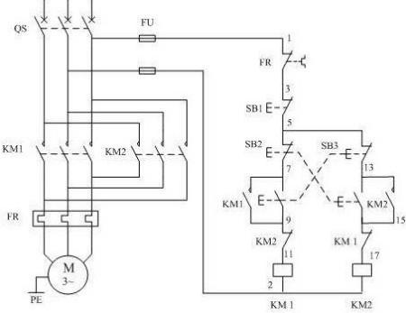 电机正反转接线图