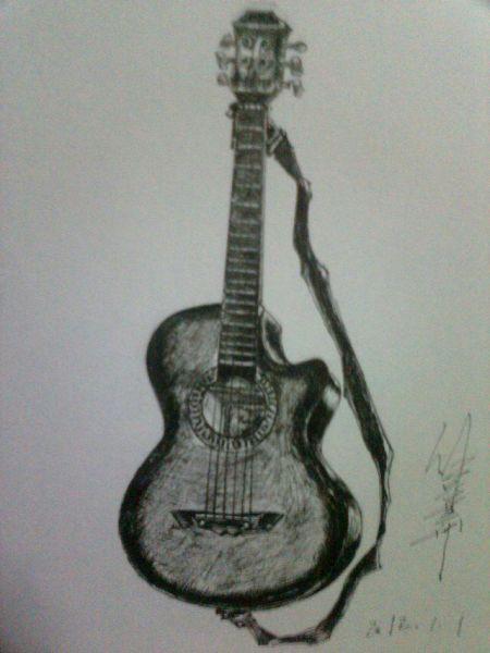 请推荐高清手绘吉他图片jpg