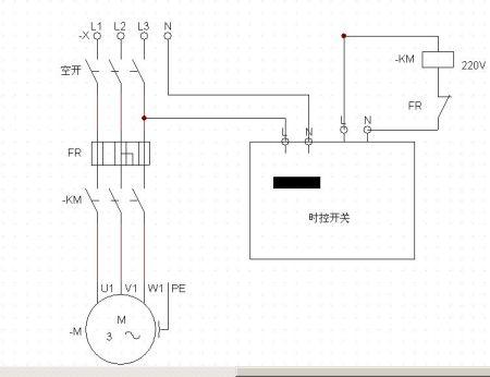 热继电器,交流接触器(线圈380v)微电脑时控开关.控制三相1.