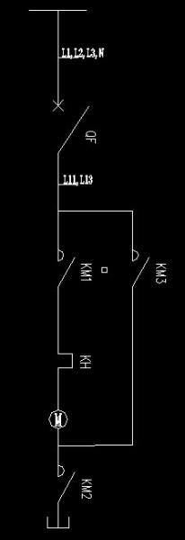 正泰接触器的星角启动实物接线图