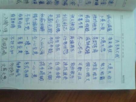abac的四字词语要五个.图片