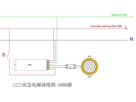 怎样连接安装消防应急灯1-18w led/5-13w节能灯应急电源 劳士新国标应