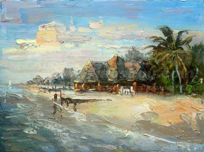 有马尔代夫风景手绘图吗 急求图片