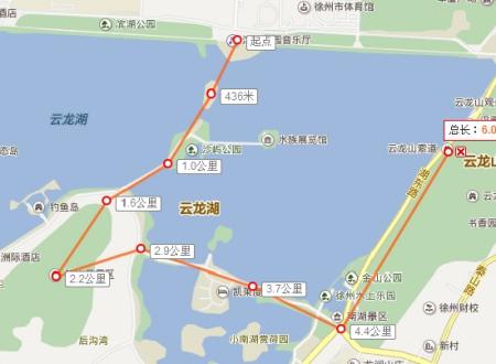 请问从徐州云龙山索道下来到走到云龙湖沉水廊道要多久