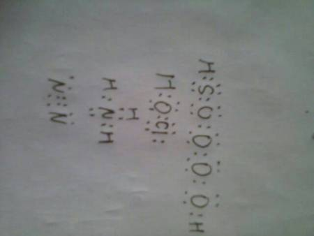h2so4,hclo,nh3,n2的电子式图片
