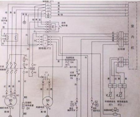 格力空调的内外接线图纸怎么找